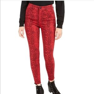 Celebrity Pink The Spice Red Snake Jeans 1